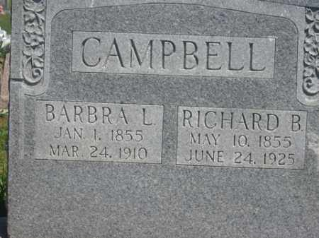 CAMPBELL, RICHARD B. - Boone County, Arkansas | RICHARD B. CAMPBELL - Arkansas Gravestone Photos