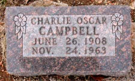 CAMPBELL, CHARLIE  OSCAR - Boone County, Arkansas | CHARLIE  OSCAR CAMPBELL - Arkansas Gravestone Photos