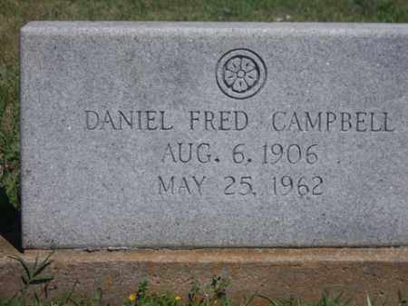 CAMPBELL, DANIEL FRED - Boone County, Arkansas | DANIEL FRED CAMPBELL - Arkansas Gravestone Photos