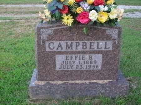 CAMPBELL, EFFIE B. - Boone County, Arkansas   EFFIE B. CAMPBELL - Arkansas Gravestone Photos