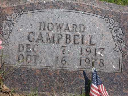 CAMPBELL, HOWARD - Boone County, Arkansas | HOWARD CAMPBELL - Arkansas Gravestone Photos