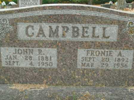 CAMPBELL, FRONIE ANGELINE - Boone County, Arkansas | FRONIE ANGELINE CAMPBELL - Arkansas Gravestone Photos