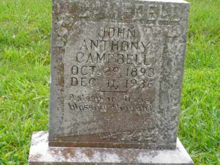 CAMPBELL, JOHN ANTHONY - Boone County, Arkansas | JOHN ANTHONY CAMPBELL - Arkansas Gravestone Photos