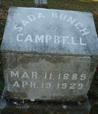 BUNCH CAMPBELL, SADA - Boone County, Arkansas | SADA BUNCH CAMPBELL - Arkansas Gravestone Photos