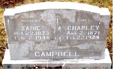CAMPBELL, ZADIE - Boone County, Arkansas | ZADIE CAMPBELL - Arkansas Gravestone Photos