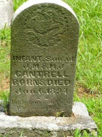 CANTRELL, INFANT SON - Boone County, Arkansas | INFANT SON CANTRELL - Arkansas Gravestone Photos
