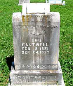 CANTWELL, LOU - Boone County, Arkansas | LOU CANTWELL - Arkansas Gravestone Photos