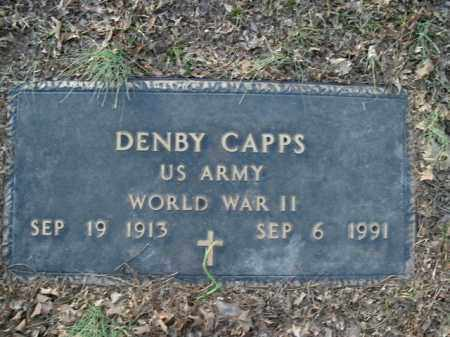 CAPPS  (VETERAN WWII), DENBY - Boone County, Arkansas | DENBY CAPPS  (VETERAN WWII) - Arkansas Gravestone Photos
