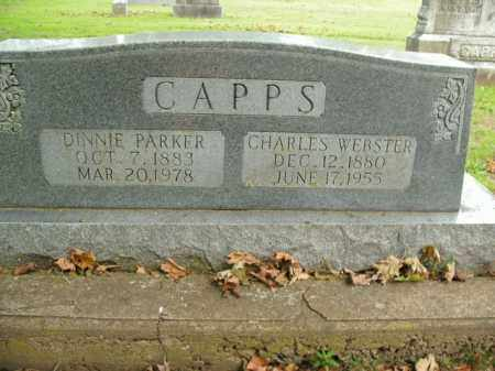 CAPPS, DINNIE - Boone County, Arkansas | DINNIE CAPPS - Arkansas Gravestone Photos