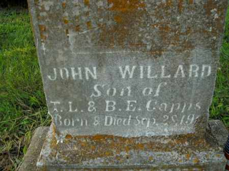 CAPPS, JOHN WILLARD - Boone County, Arkansas | JOHN WILLARD CAPPS - Arkansas Gravestone Photos