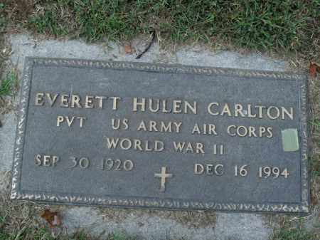 CARLTON  (VETERAN WWII), EVERETT HULEN - Boone County, Arkansas | EVERETT HULEN CARLTON  (VETERAN WWII) - Arkansas Gravestone Photos