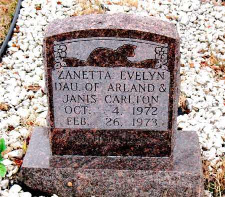 CARLTON, ZANETTA  EVELYN - Boone County, Arkansas   ZANETTA  EVELYN CARLTON - Arkansas Gravestone Photos