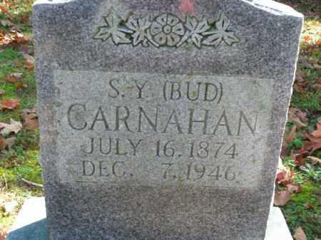 CARNAHAN, S.Y. (BUD) - Boone County, Arkansas | S.Y. (BUD) CARNAHAN - Arkansas Gravestone Photos