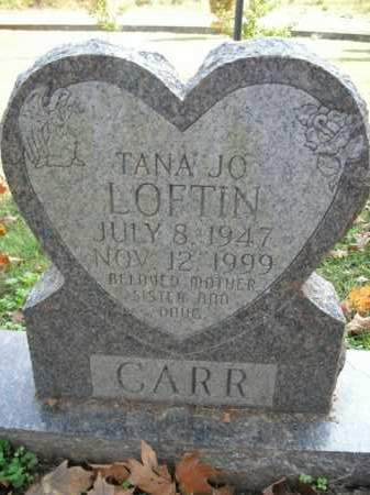 LOFTIN CARR, TANA JO - Boone County, Arkansas | TANA JO LOFTIN CARR - Arkansas Gravestone Photos