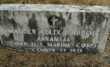 CARROLL  (VETERAN), WALTER FELIX - Boone County, Arkansas | WALTER FELIX CARROLL  (VETERAN) - Arkansas Gravestone Photos