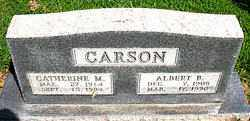 CARSON, ALBERT  BERTIE - Boone County, Arkansas | ALBERT  BERTIE CARSON - Arkansas Gravestone Photos