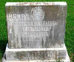 CARSON, HENRY - Boone County, Arkansas | HENRY CARSON - Arkansas Gravestone Photos