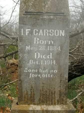 CARSON, I.F. - Boone County, Arkansas | I.F. CARSON - Arkansas Gravestone Photos