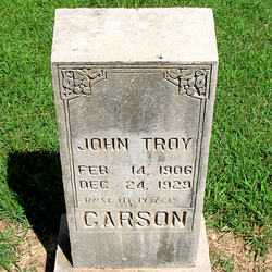 CARSON, JOHN TROY - Boone County, Arkansas | JOHN TROY CARSON - Arkansas Gravestone Photos