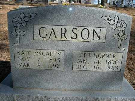 MCCARTY CARSON, KATE - Boone County, Arkansas | KATE MCCARTY CARSON - Arkansas Gravestone Photos