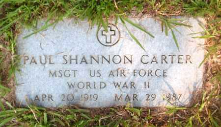 CARTER  (VETERAN WWII), PAUL SHANNON - Boone County, Arkansas | PAUL SHANNON CARTER  (VETERAN WWII) - Arkansas Gravestone Photos