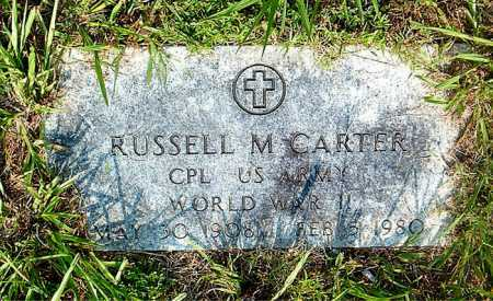 CARTER  (VETERAN WWII), RUSSELL M - Boone County, Arkansas | RUSSELL M CARTER  (VETERAN WWII) - Arkansas Gravestone Photos