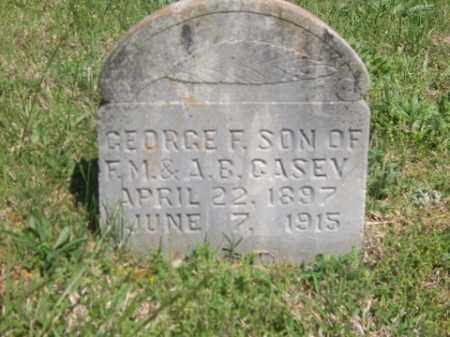 CASEY, GEORGE F. - Boone County, Arkansas | GEORGE F. CASEY - Arkansas Gravestone Photos