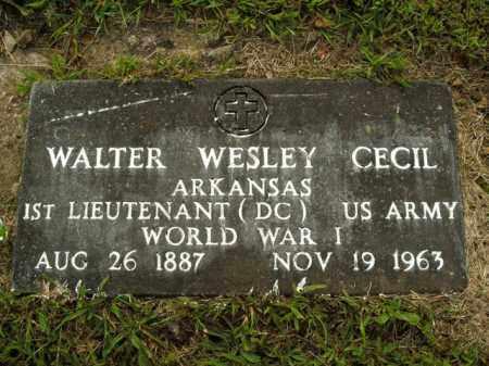 CECIL  (VETERAN WWI), WALTER WESLEY - Boone County, Arkansas | WALTER WESLEY CECIL  (VETERAN WWI) - Arkansas Gravestone Photos