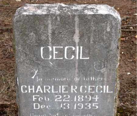 CECIL, CHARLIE  R. - Boone County, Arkansas | CHARLIE  R. CECIL - Arkansas Gravestone Photos