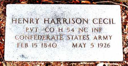CECIL  (VETERAN CSA), HENRY HARRISON - Boone County, Arkansas | HENRY HARRISON CECIL  (VETERAN CSA) - Arkansas Gravestone Photos