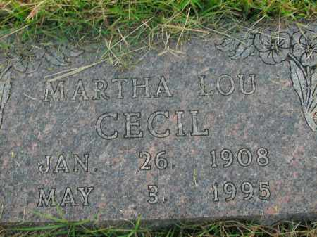 CECIL, MARTHA LOU - Boone County, Arkansas | MARTHA LOU CECIL - Arkansas Gravestone Photos