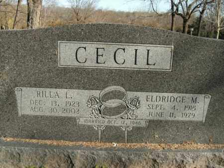 CECIL, RILLA L. - Boone County, Arkansas | RILLA L. CECIL - Arkansas Gravestone Photos
