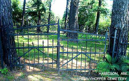 *SPEER/HOPPER CEMETERY GATE,  - Boone County, Arkansas |  *SPEER/HOPPER CEMETERY GATE - Arkansas Gravestone Photos