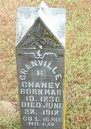 CHANEY  (VETERAN UNION), GRANVILLE  H - Boone County, Arkansas   GRANVILLE  H CHANEY  (VETERAN UNION) - Arkansas Gravestone Photos