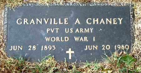 CHANEY  (VETERAN WWI), GRANVILLE  A - Boone County, Arkansas | GRANVILLE  A CHANEY  (VETERAN WWI) - Arkansas Gravestone Photos