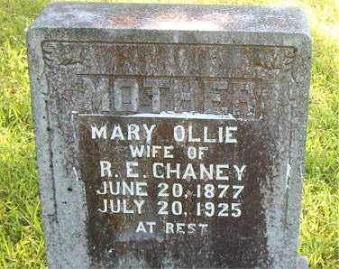 CHANEY, MARY OLLIE - Boone County, Arkansas | MARY OLLIE CHANEY - Arkansas Gravestone Photos