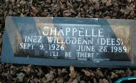 DEES CHAPPELLE, INEZ WILLODEAN - Boone County, Arkansas | INEZ WILLODEAN DEES CHAPPELLE - Arkansas Gravestone Photos