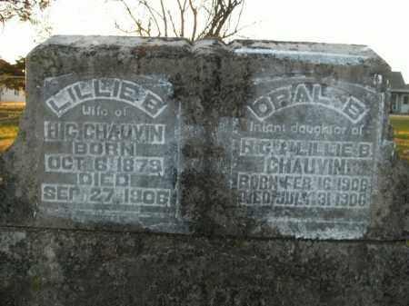 CHAUVIN, OPAL B. - Boone County, Arkansas | OPAL B. CHAUVIN - Arkansas Gravestone Photos