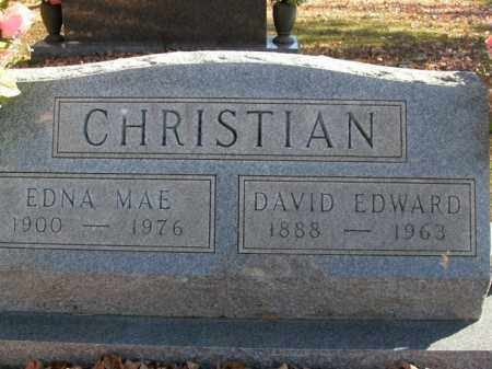 CHRISTIAN, DAVID EDWARD - Boone County, Arkansas | DAVID EDWARD CHRISTIAN - Arkansas Gravestone Photos