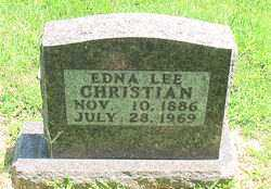 CHRISTIAN, EDNA  LEE - Boone County, Arkansas | EDNA  LEE CHRISTIAN - Arkansas Gravestone Photos