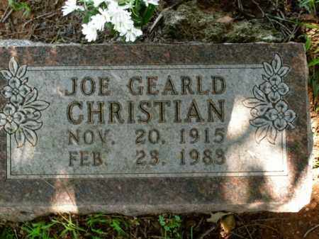 CHRISTIAN, JOE GEARLD - Boone County, Arkansas | JOE GEARLD CHRISTIAN - Arkansas Gravestone Photos