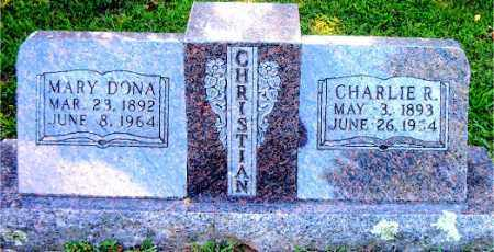 CHRISTIAN, MARY DONA - Boone County, Arkansas | MARY DONA CHRISTIAN - Arkansas Gravestone Photos