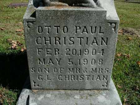 CHRISTIAN, OTTO PAUL - Boone County, Arkansas | OTTO PAUL CHRISTIAN - Arkansas Gravestone Photos