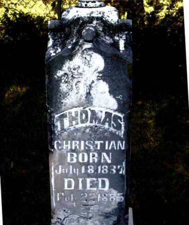 CHRISTIAN, THOMAS - Boone County, Arkansas | THOMAS CHRISTIAN - Arkansas Gravestone Photos