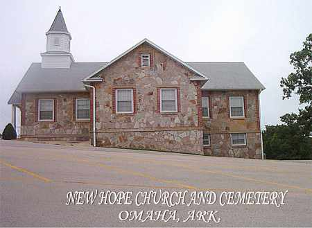 *NEW  HOPE  CHURCH & CEMETERY,  - Boone County, Arkansas |  *NEW  HOPE  CHURCH & CEMETERY - Arkansas Gravestone Photos
