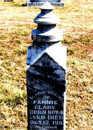 CLARY, FANNIE - Boone County, Arkansas | FANNIE CLARY - Arkansas Gravestone Photos