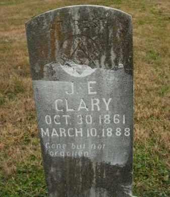 CLARY, J.E. - Boone County, Arkansas   J.E. CLARY - Arkansas Gravestone Photos
