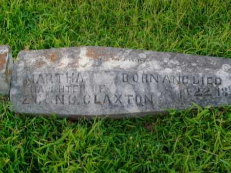 CLAXTON, MARTHA - Boone County, Arkansas | MARTHA CLAXTON - Arkansas Gravestone Photos