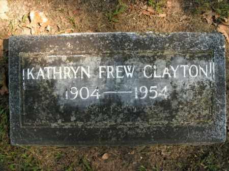 FREW CLAYTON, KATHRYN - Boone County, Arkansas | KATHRYN FREW CLAYTON - Arkansas Gravestone Photos