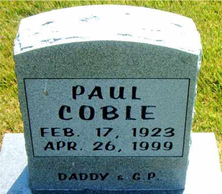COBLE, PAUL - Boone County, Arkansas | PAUL COBLE - Arkansas Gravestone Photos